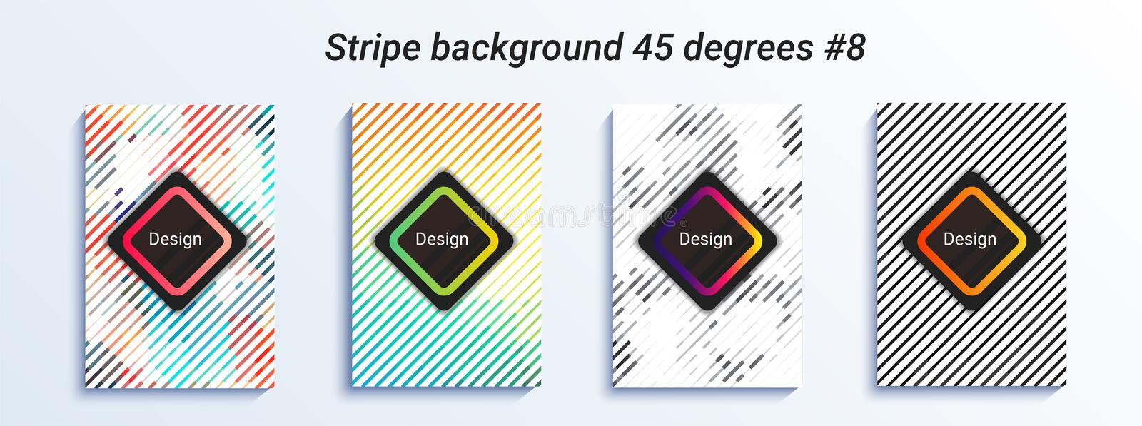 Conception rayée minimale de bakcground Gradient tramé coloré configuration géométrique lumineuse Illustration de vecteur illustration stock