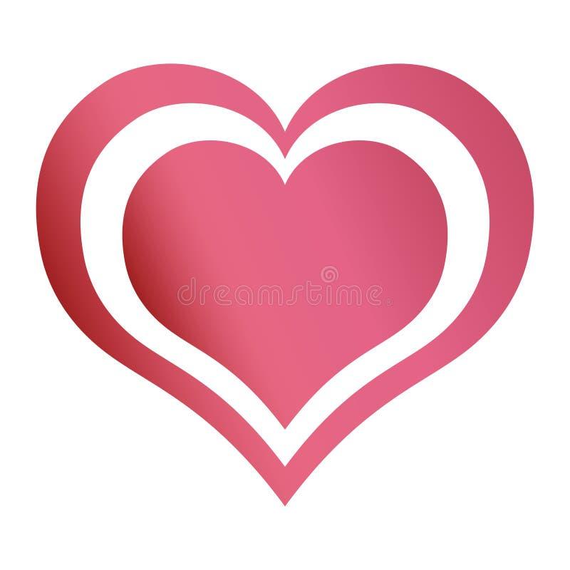 conception romantique de passion d'émotion d'amour de coeurs illustration de vecteur