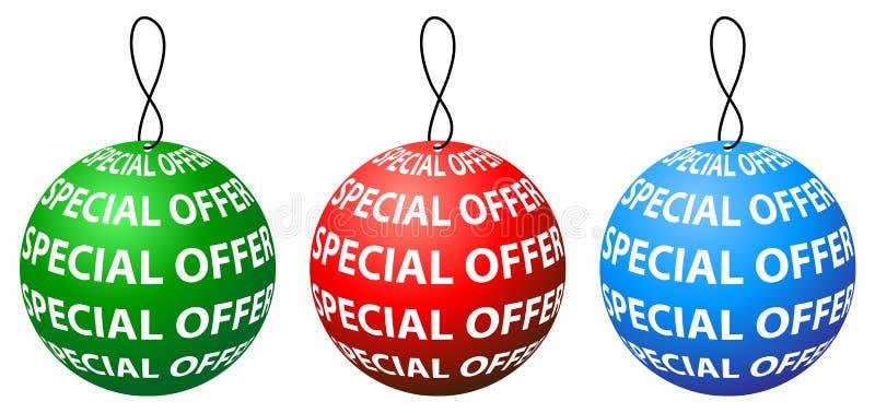 Conception ronde d'étiquette d'offre spéciale avec trois couleurs illustration de vecteur
