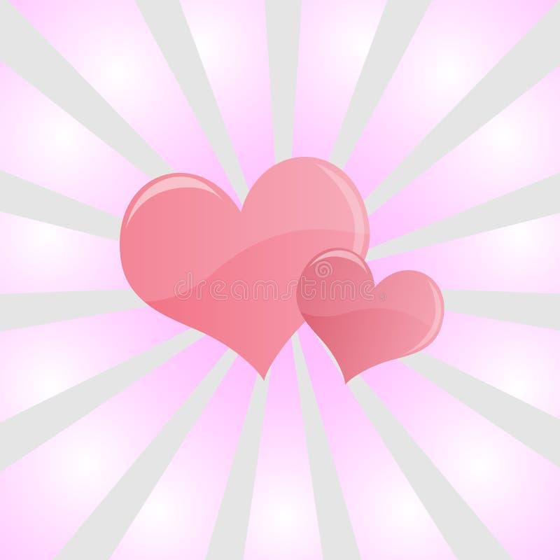 Conception rose de coeurs illustration de vecteur