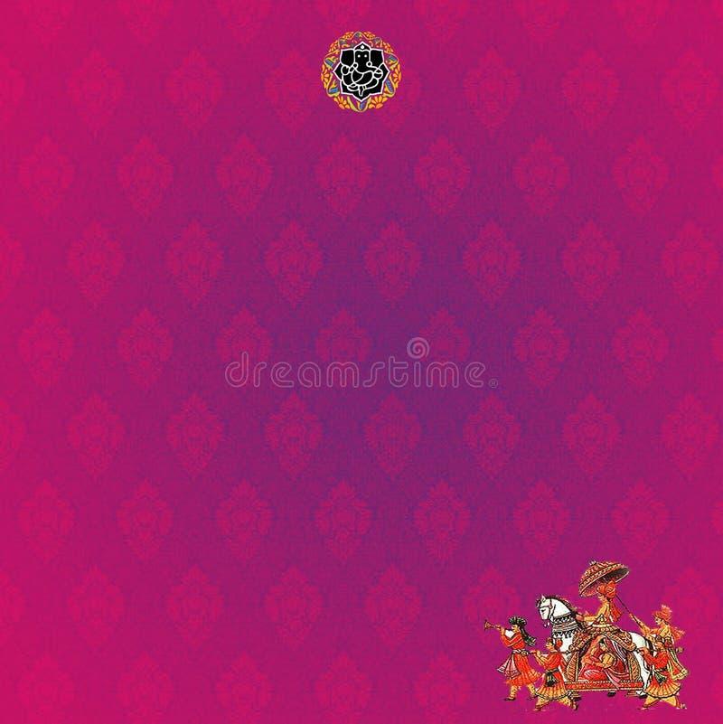 Conception rose de fond pour épouser l'invitation, carte photographie stock libre de droits