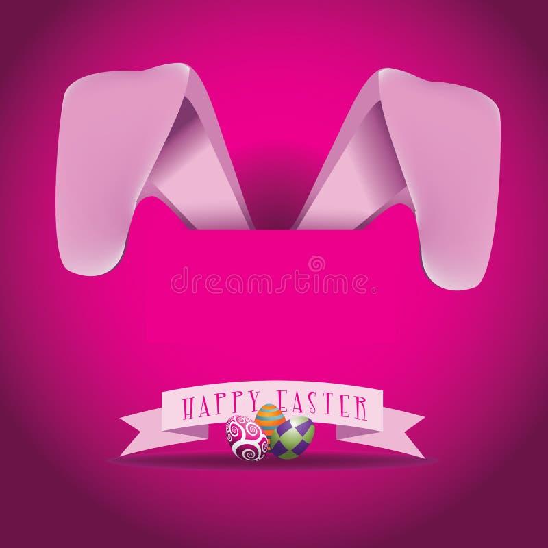 Conception rose de Pâques d'oreilles de lapin illustration libre de droits
