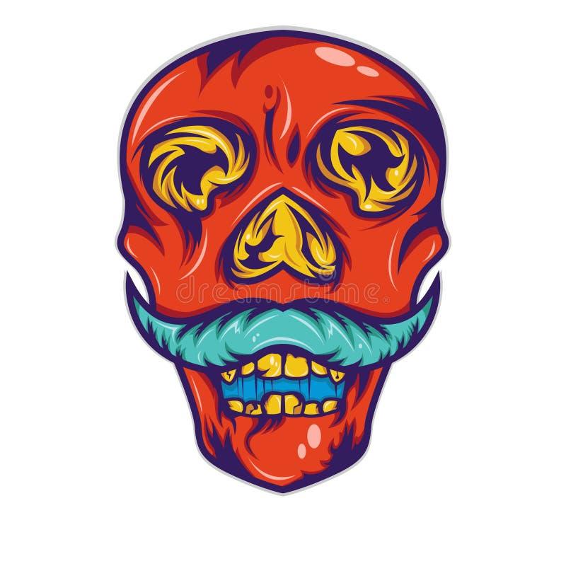 Conception rouge de chemise de moustache illustration libre de droits