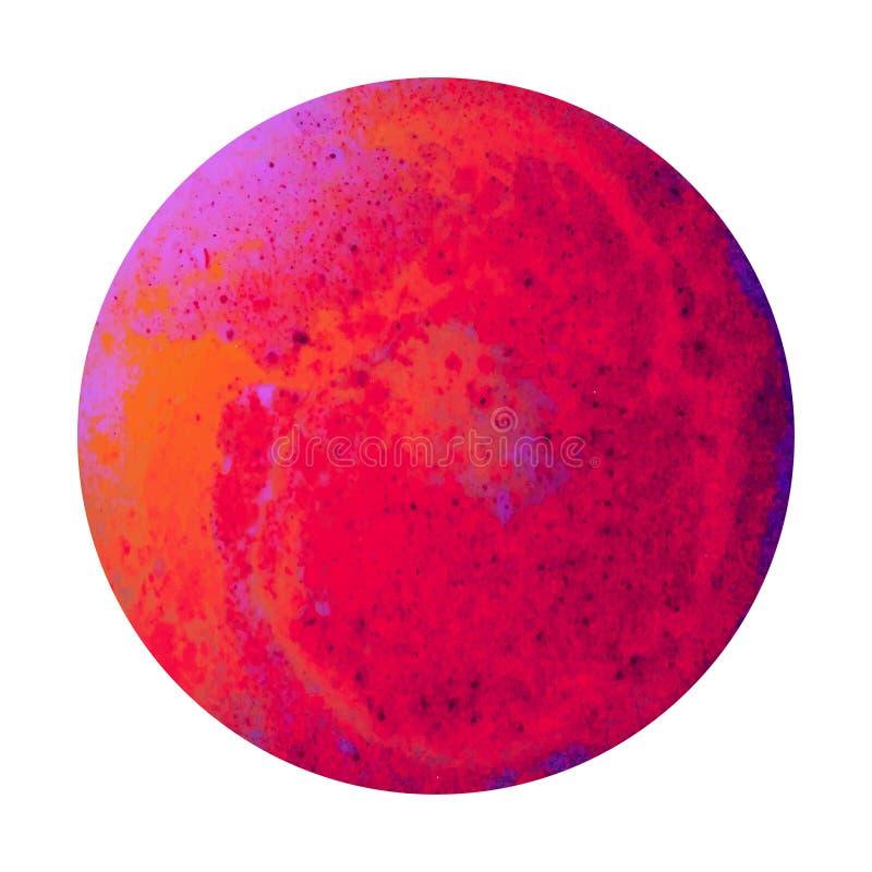 Conception rouge de planète illustration libre de droits