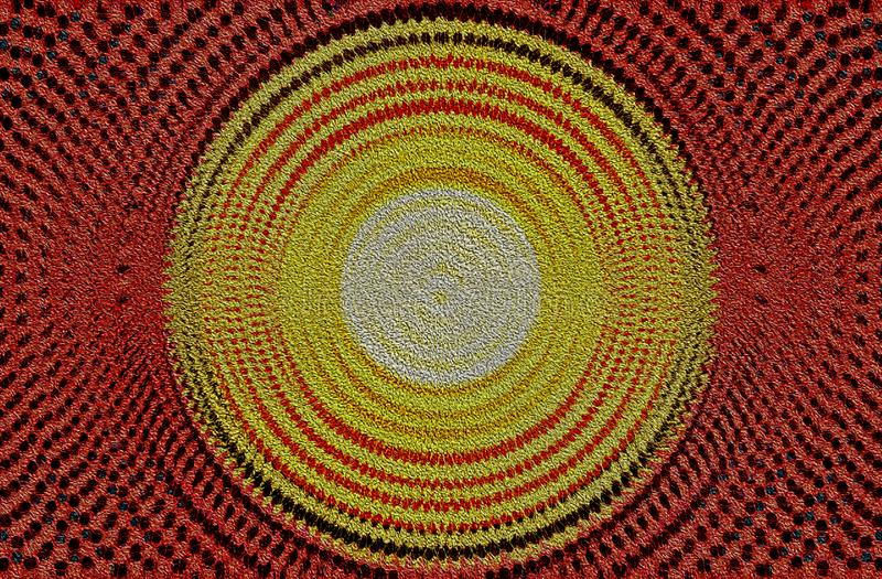 Conception rouge et jaune de cercle photo stock