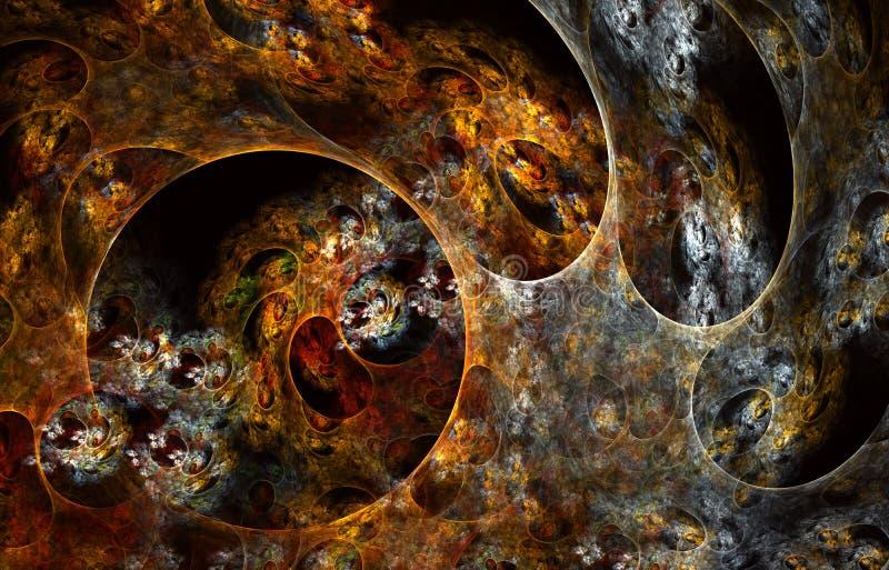 Conception rougeoyante moderne de forme Voies l?g?res ?nergiques et effets illustration de vecteur