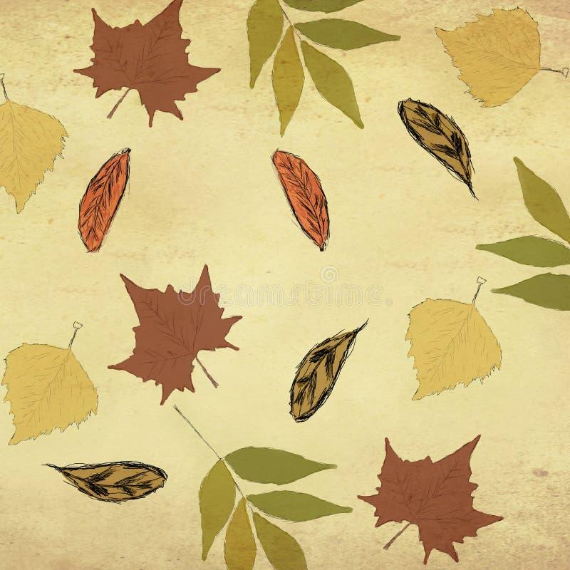 Conception sans couture d'automne illustration stock