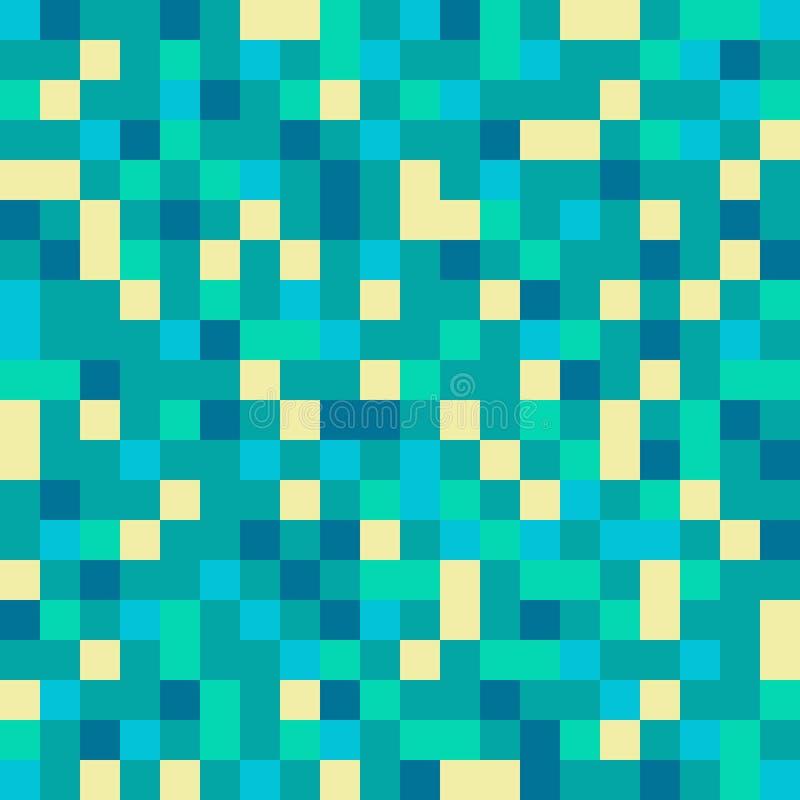 Conception sans couture de modèle avec des pixels illustration stock