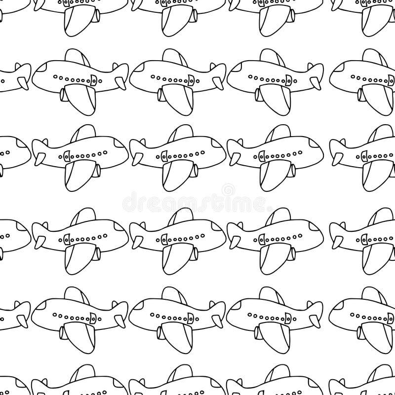 Conception sans couture de modèle de bande dessinée plate - dirigez le sket d'illustration illustration libre de droits