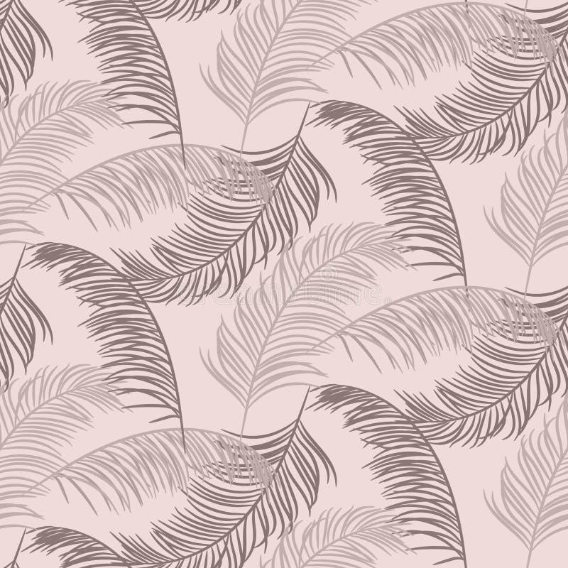 Conception sans couture de vecteur de modèle de palmettes Fond poussiéreux d'usine de couleurs illustration libre de droits