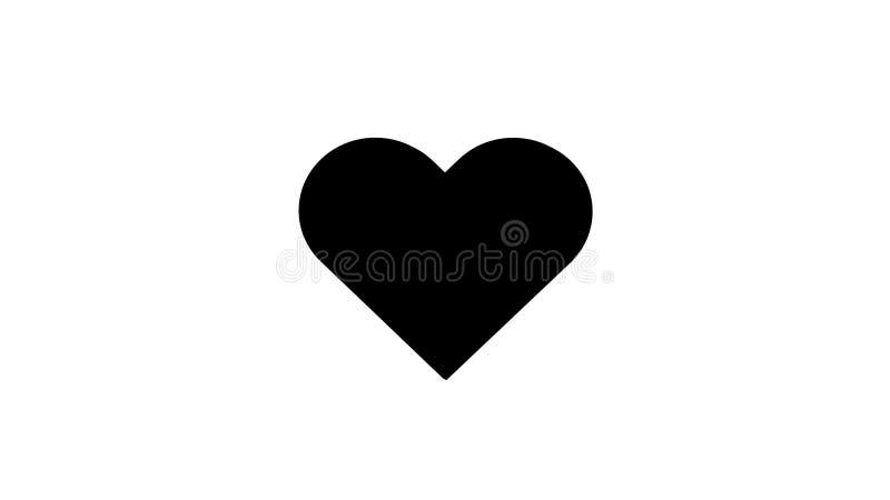 conception simple d'illustration de vecteur d'amour de coeur du noir 3D illustration de vecteur