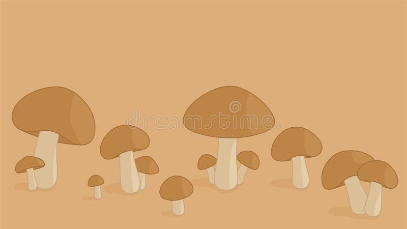 Conception simple de fond d'un certain champignon illustration stock