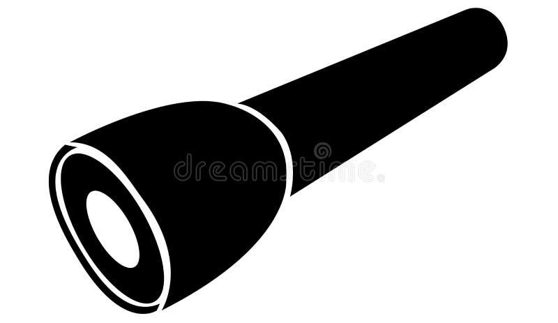 Conception simple de lampe-torche illustration de vecteur