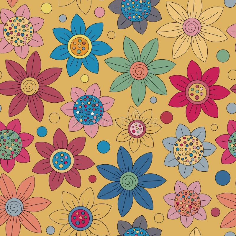 Download Conception Simple De Modèle Mignon Sans Couture Floral Le Primitif Fleurit L'ornement Sans Couture Fond Lumineux De Beige De L'OM Illustration de Vecteur - Illustration du décoration, ditsy: 76084445