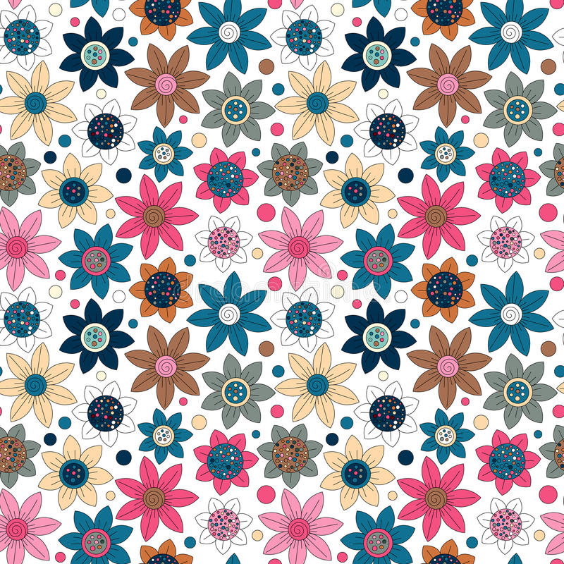 Download Conception Simple De Modèle Mignon Sans Couture Floral Le Primitif Fleurit L'ornement Sans Couture Fond Lumineux De Beige De L'OM Illustration de Vecteur - Illustration du papier, lumineux: 76084868