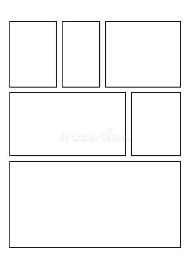 Conception simple de story-board pour la bande dessinée image stock
