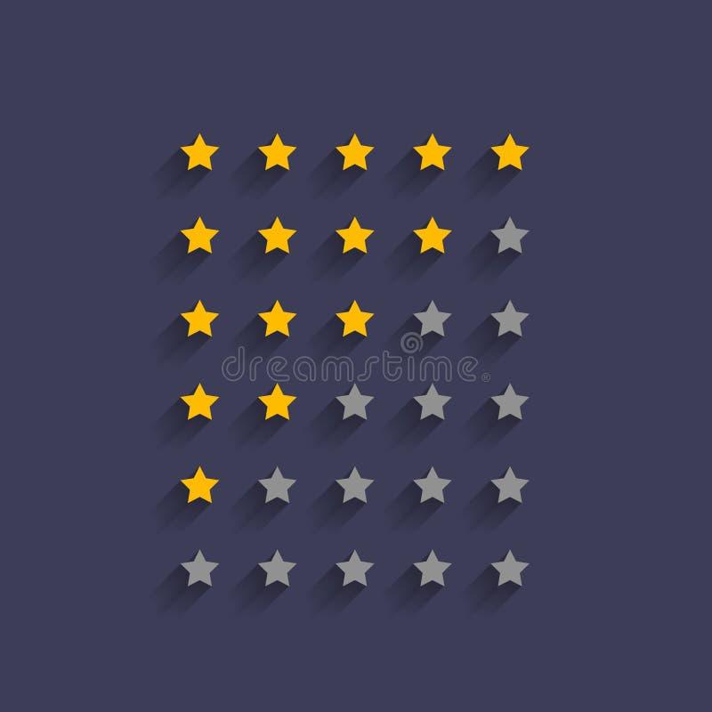 Conception simple de symbole d'estimation d'étoile illustration libre de droits