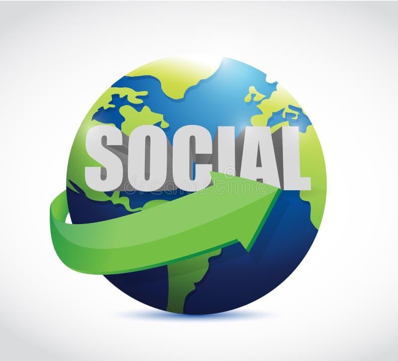Download Conception Sociale D'illustration De Signe De Globe Illustration Stock - Illustration du personnel, transmission: 45358167
