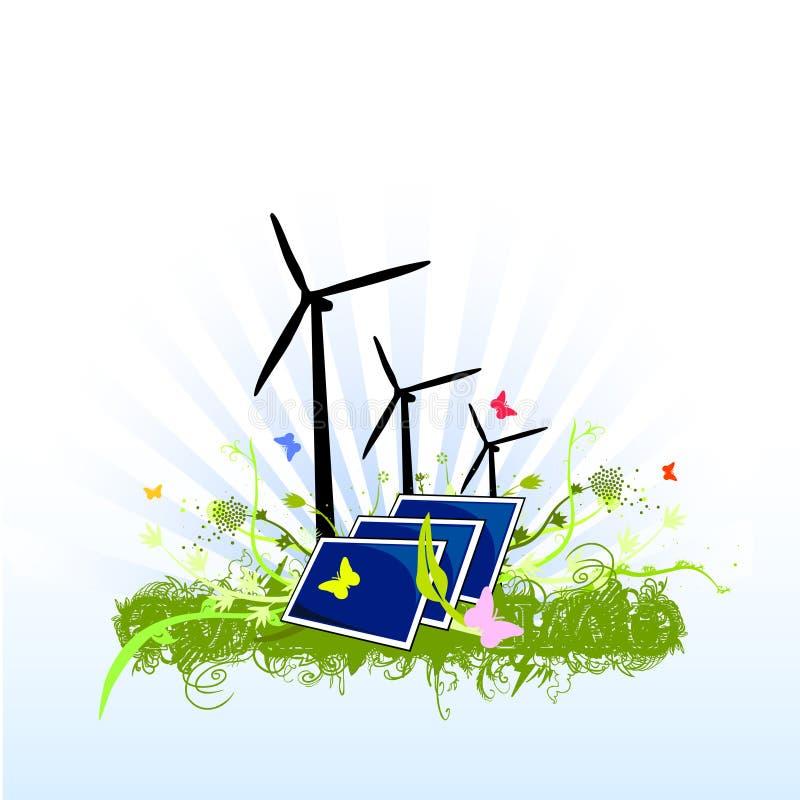 Conception soutenable d'énergie propre illustration de vecteur