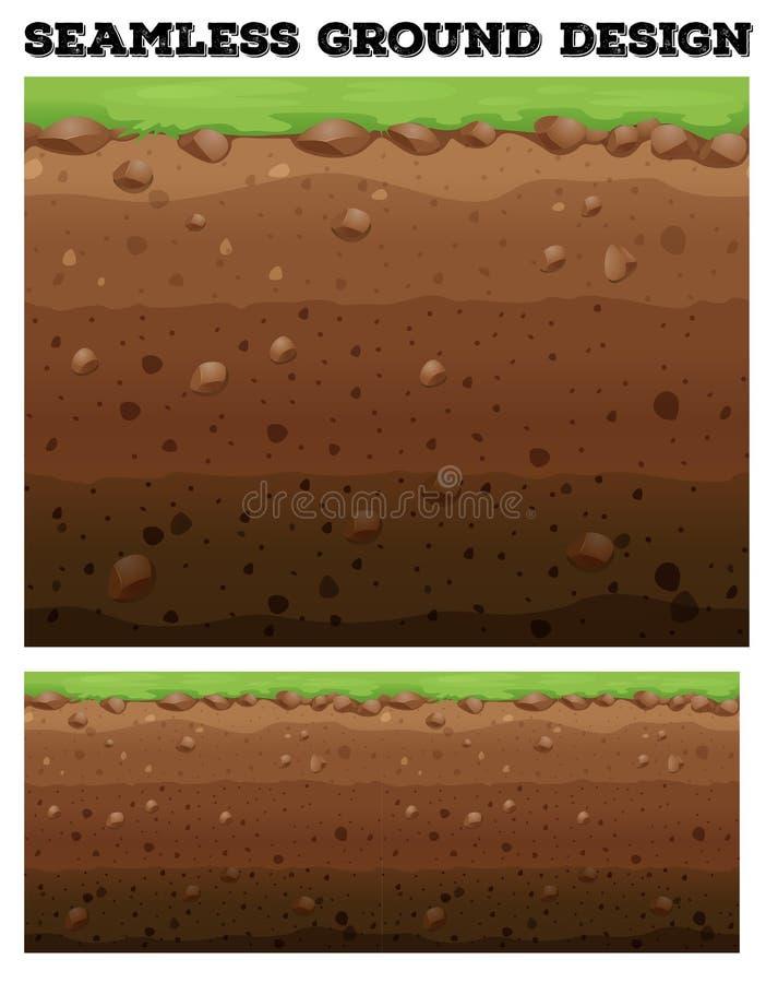 Conception souterraine avec la pelouse sur la saleté illustration libre de droits