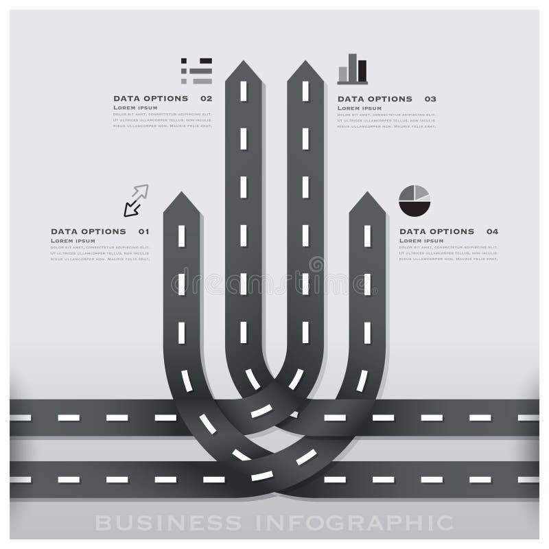Conception Templat d'Infographic d'affaires de poteau de signalisation de route et de rue illustration stock