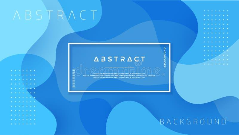 Conception texturisée dynamique de fond dans le style 3D avec la couleur bleue Fond du vecteur Eps10 illustration de vecteur