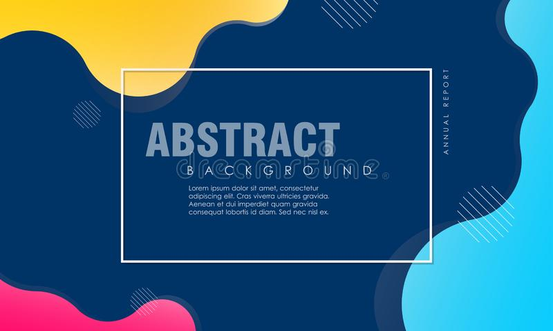 Conception texturisée dynamique de fond dans le style 3D avec la couleur bleue, jaune, rose illustration libre de droits