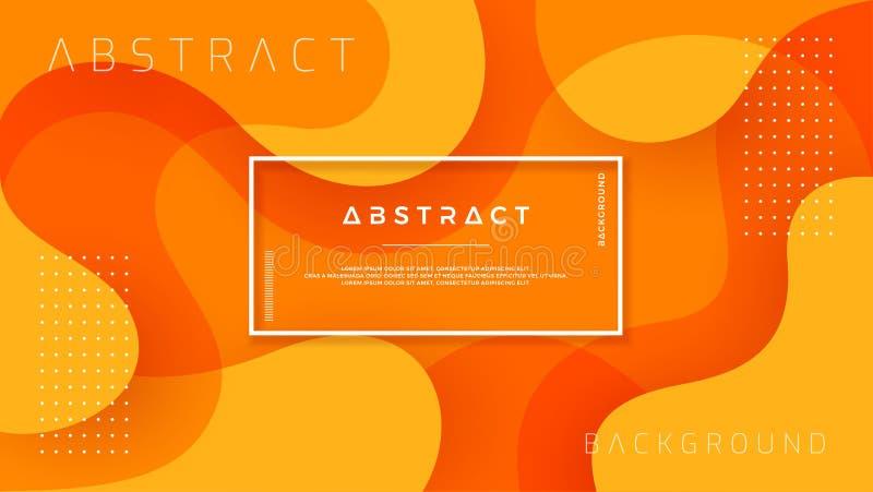 Conception texturisée dynamique de fond dans le style 3D avec la couleur orange Fond du vecteur Eps10 illustration stock
