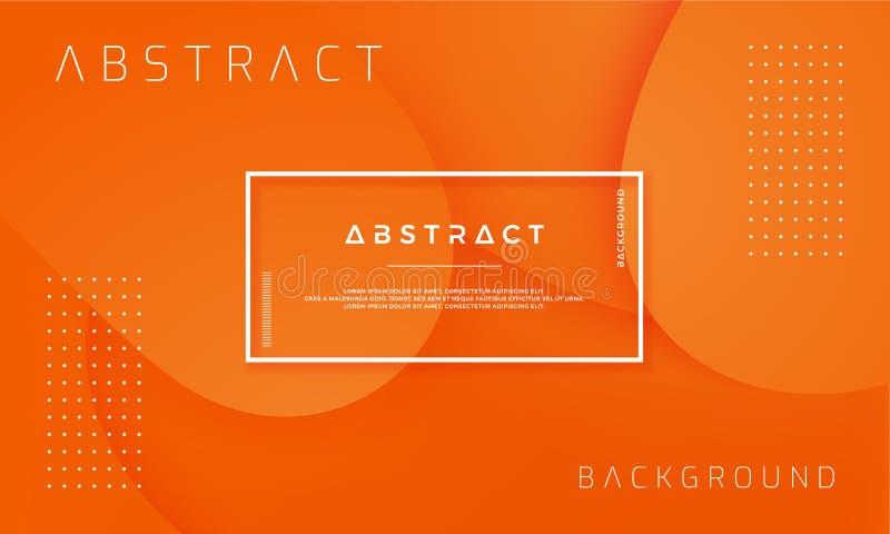 Conception texturisée dynamique de fond dans le style 3D avec la couleur orange Peut être employé pour des affiches, plaquettes,  illustration de vecteur