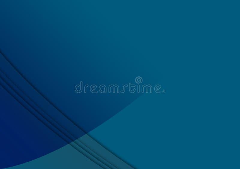 Conception texturisée linéaire bleue de fond de papier peint illustration stock
