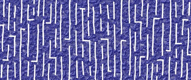Conception tirée par la main 19 de style de labyrinthe avec le fond froissé de vernis de bleu marine illustration stock