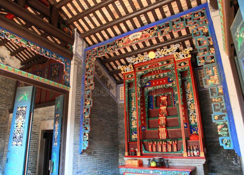 Conception traditionnelle d'une maison chinoise historique de village images stock