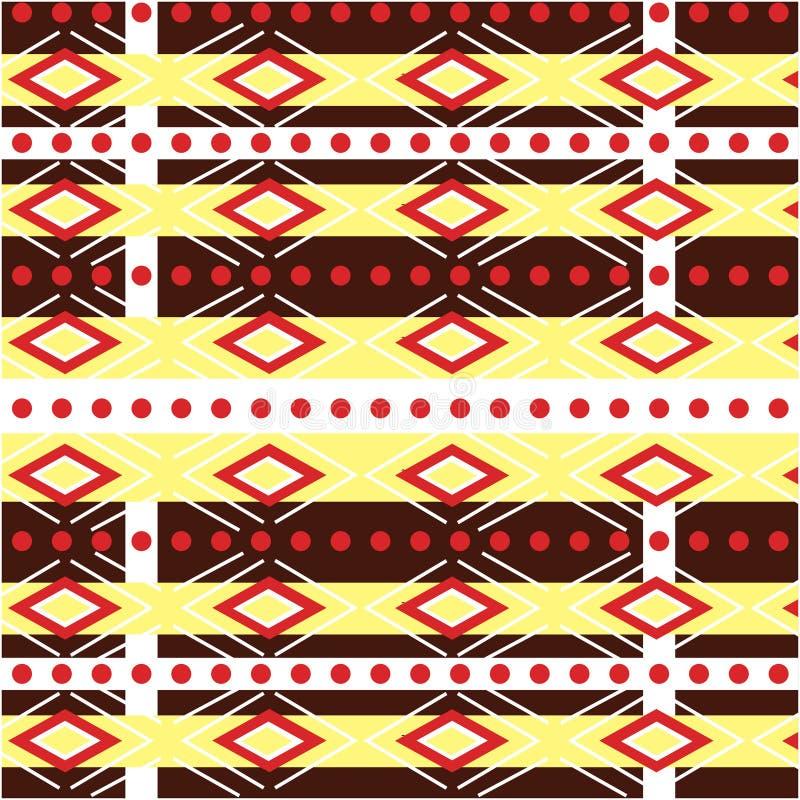 Conception traditionnelle de modèle ethnique géométrique pour le fond, tapis, papier peint, habillement, s'enveloppant, batik, ti illustration libre de droits