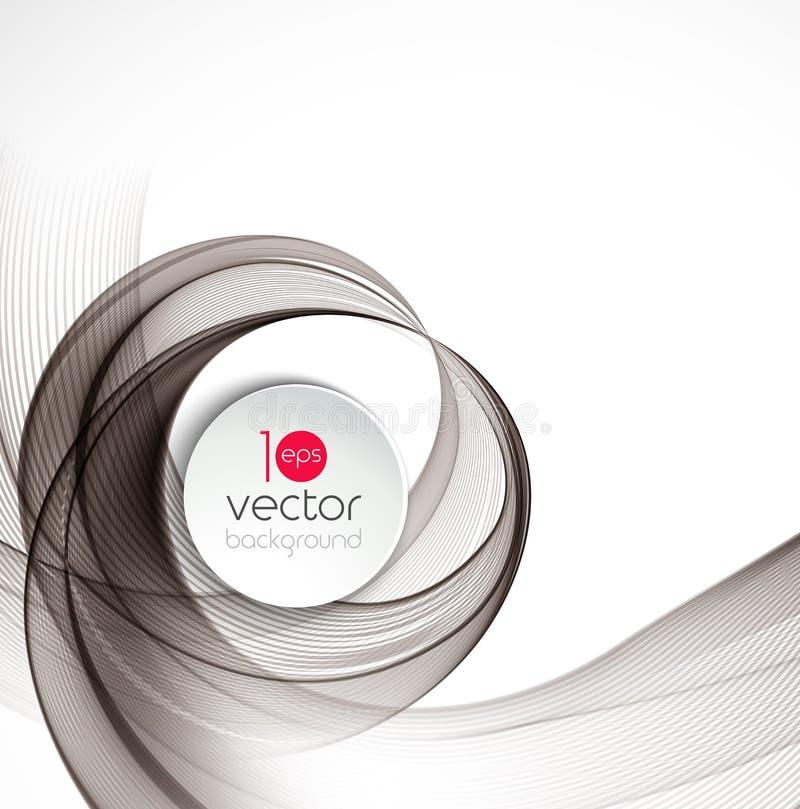 Conception transparente abstraite de brochure de fond de calibre de vague de fractale illustration stock