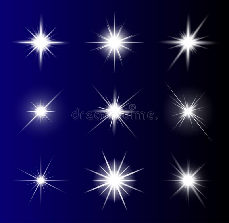 Conception transparente d'icône de symbole de vecteur d'étoile Bel illustrati illustration stock
