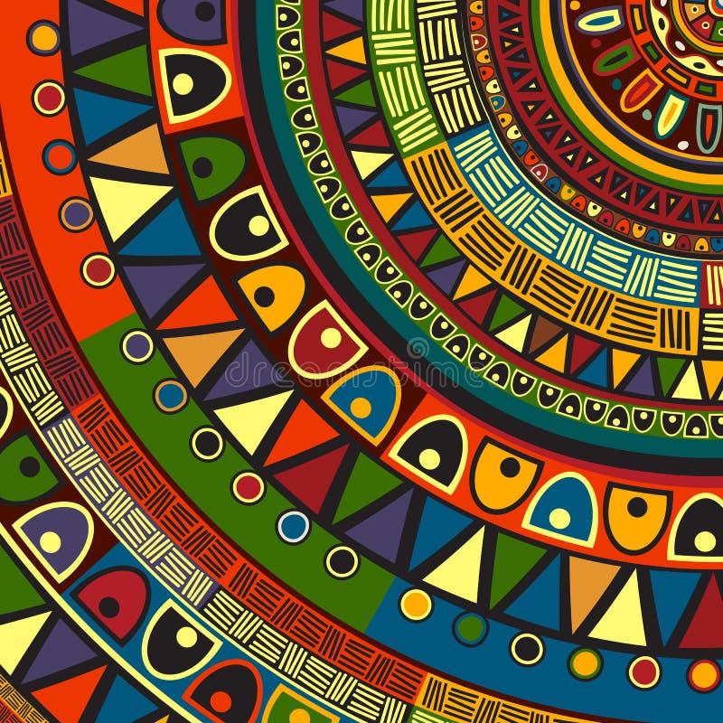 Conception tribale colorée illustration stock
