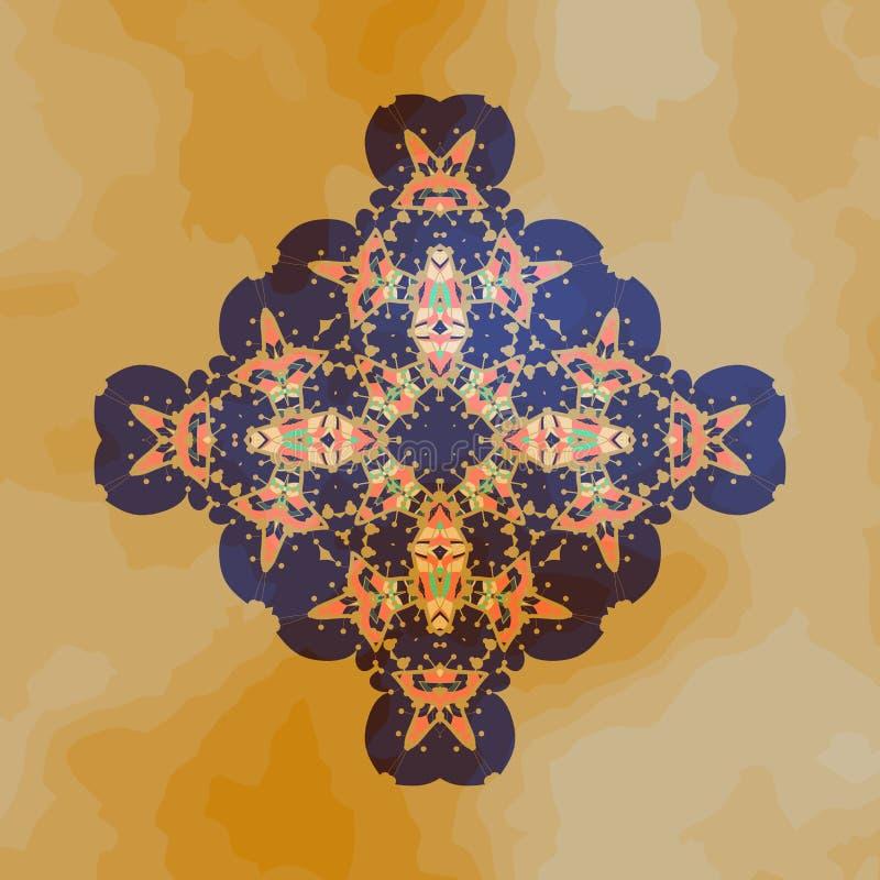 Conception tribale de motif Karma de yantra de chakra de mandala illustration de vecteur