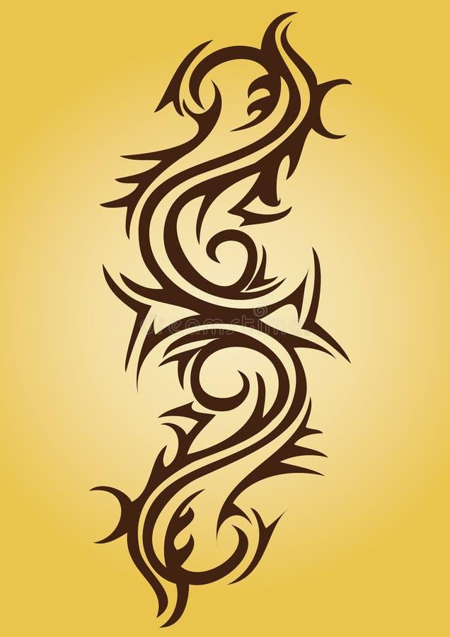 Conception tribale de tatouage illustration libre de droits