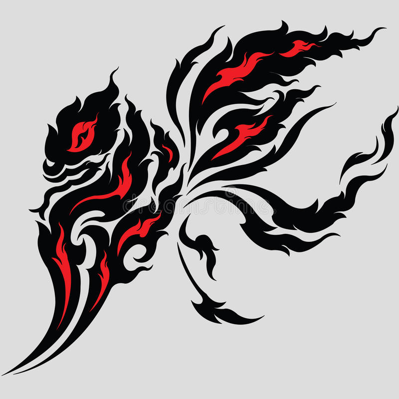 Conception tribale de tatouage de dragon illustration stock