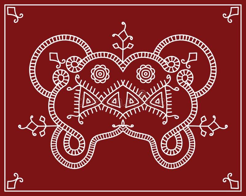 Conception tribale motif folklorique peinture de mur for Motif peinture