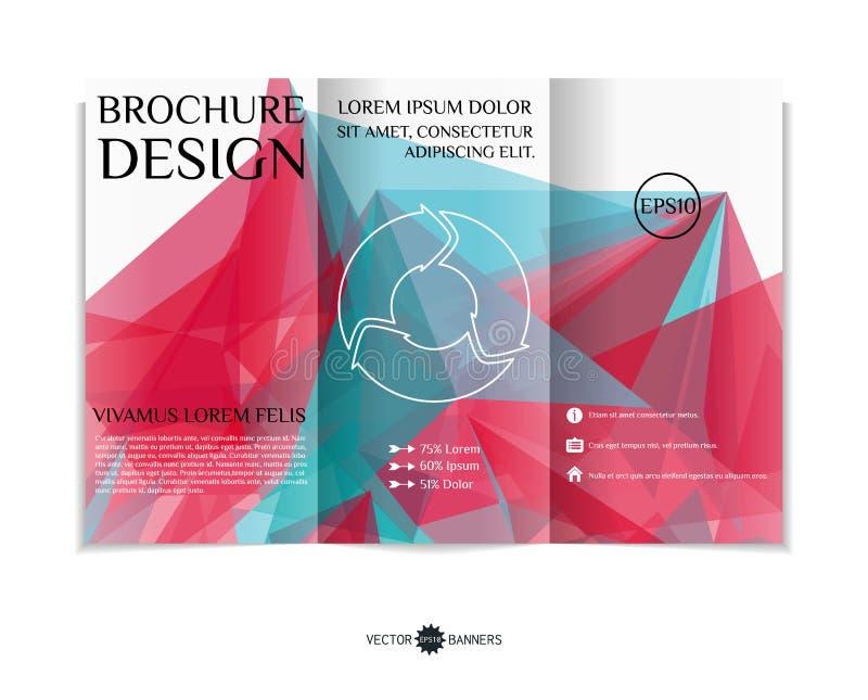 Conception triple de brochure illustration stock