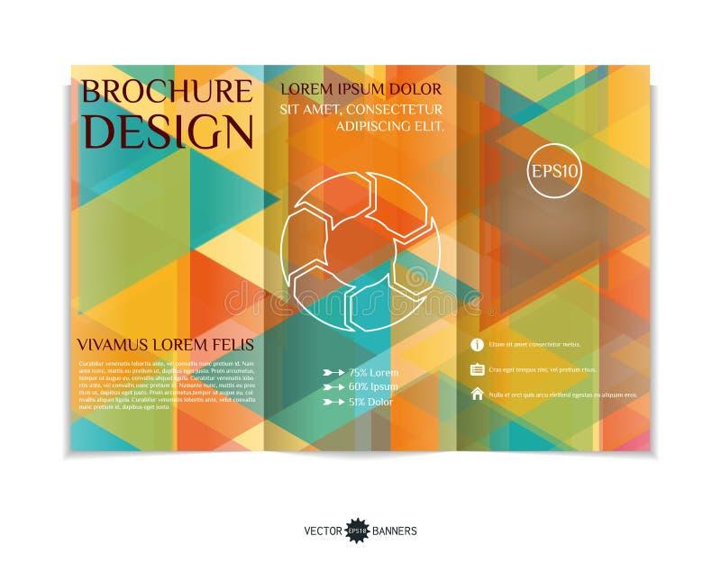 Conception triple de brochure illustration de vecteur