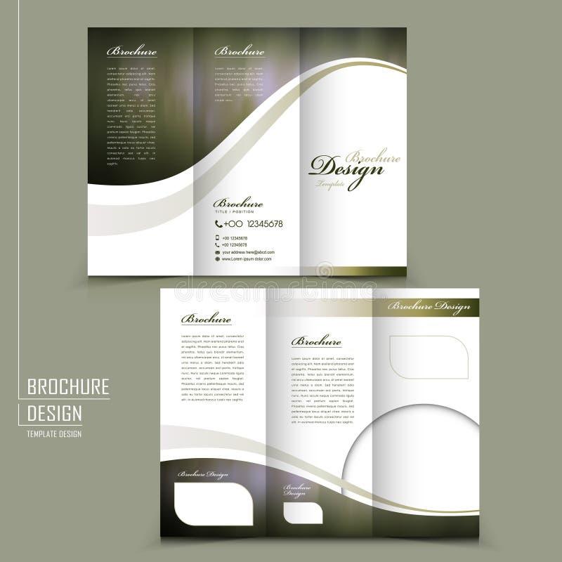 Conception triple gracieuse de calibre de brochure illustration libre de droits