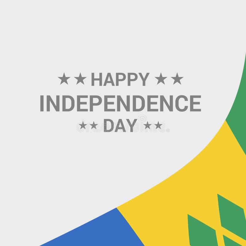 Conception typographique de Jour de la Déclaration d'Indépendance de Saint Vincent et de grenadines illustration stock