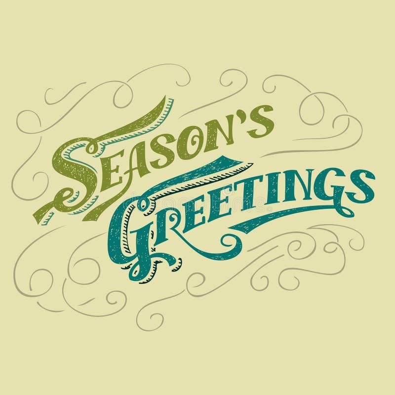 Conception typographique des salutations de la saison illustration stock