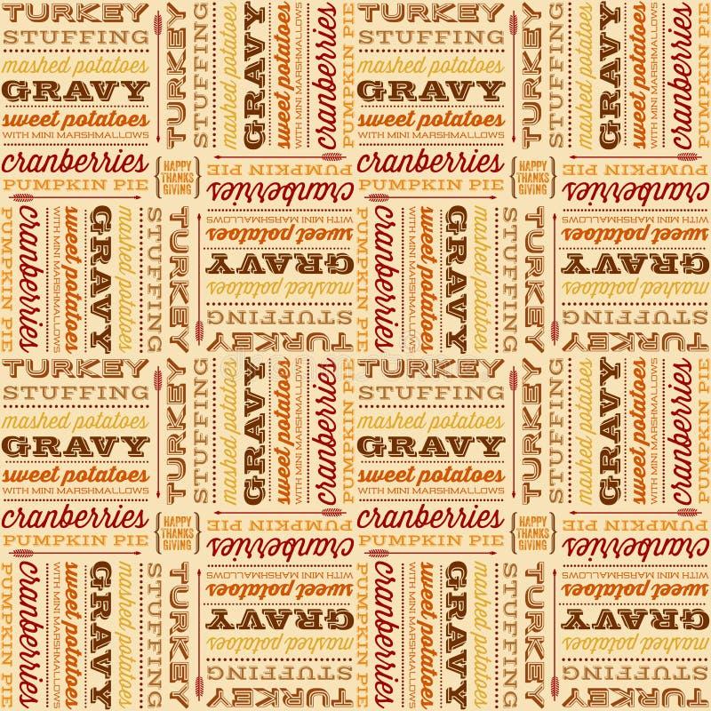 Conception typographique sans couture de thanksgiving illustration libre de droits