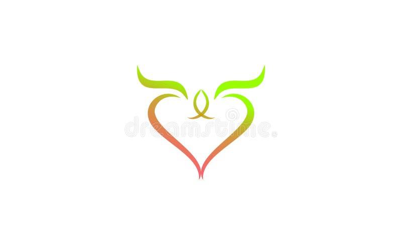 Conception unique créative de logo d'amour illustration de vecteur
