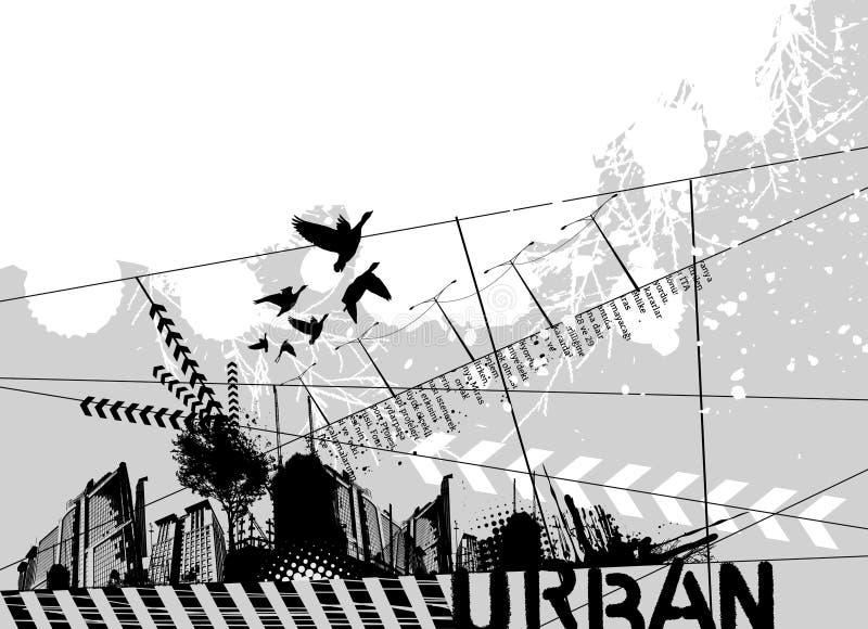 Conception urbaine grunge illustration libre de droits