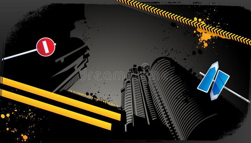 Conception urbaine grunge moderne illustration de vecteur