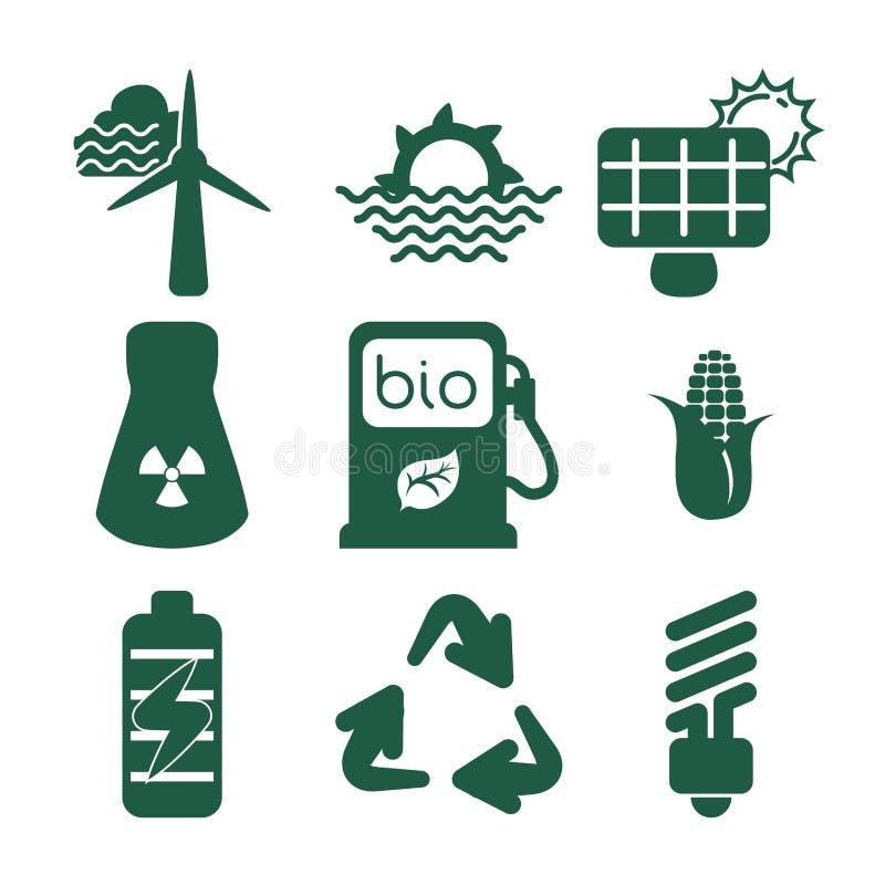 Conception verte d'énergie illustration libre de droits